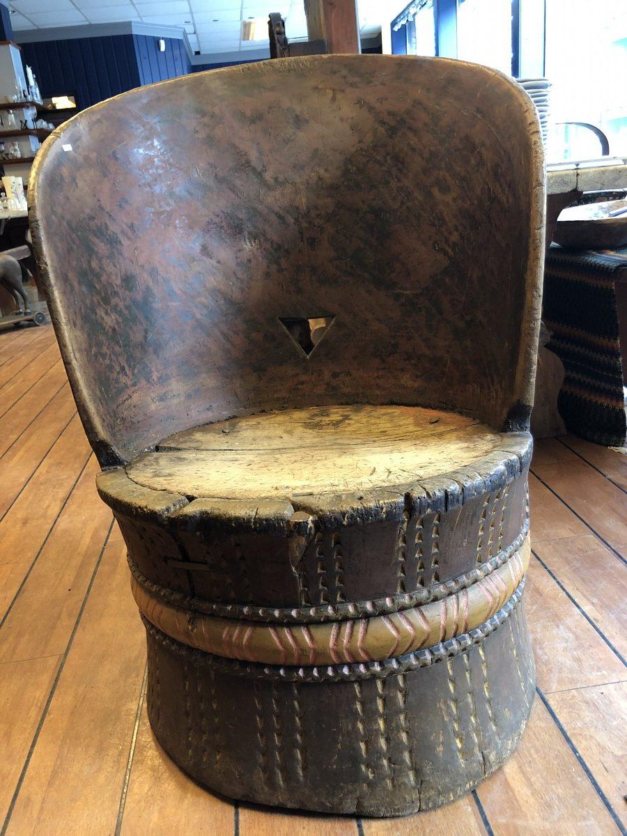 Stor kubbestol fra Telemark